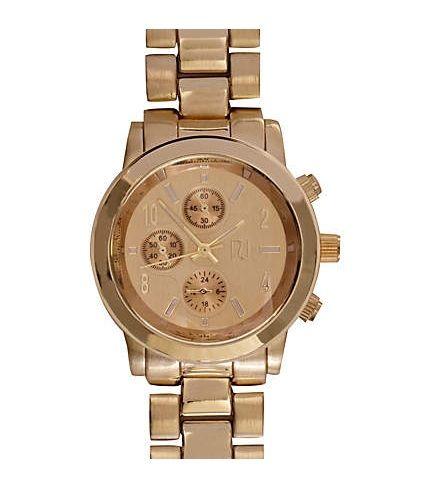 RIVER ISLAND złoty zegarek BOYFRIEND gold KUPIE