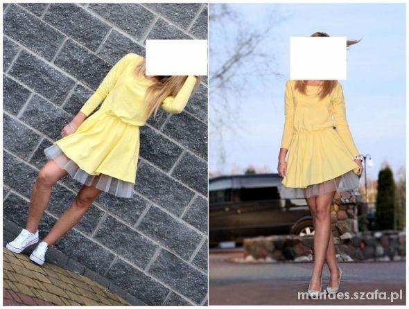 Eleganckie pastelowa sukienka z tiulem