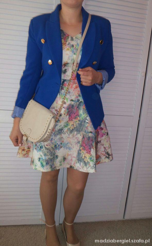 Mój styl kobalt and floral