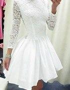 Sliczna sukienka z koronka na Ślub Cywilny