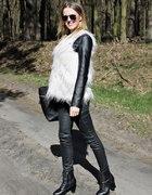 Fur vest & waxed pants