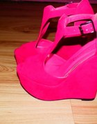 Pink koturny 37