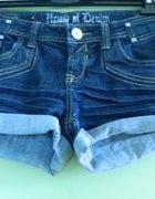 House of denim spodenki jeansowe krótkie 38 S