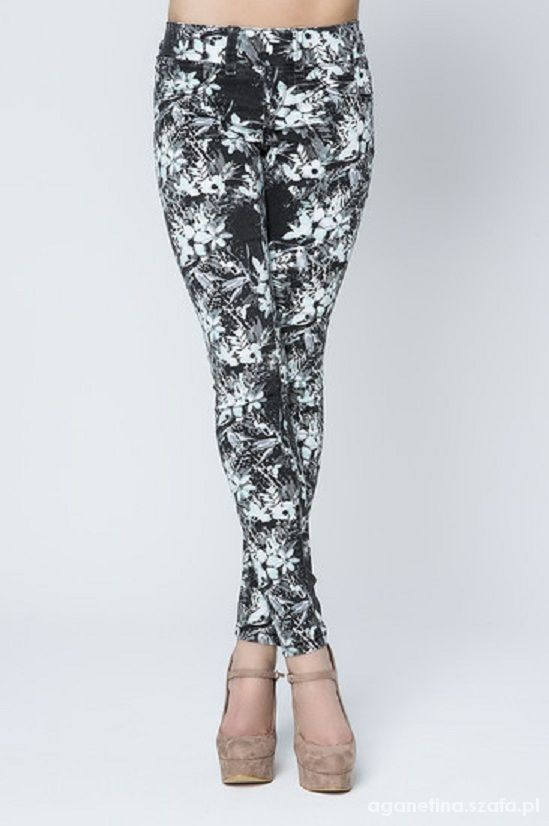 Ubrania legginsy w kwiaty tally weijl