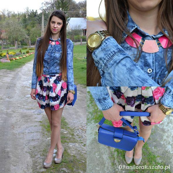 Blogerek Floral skirt