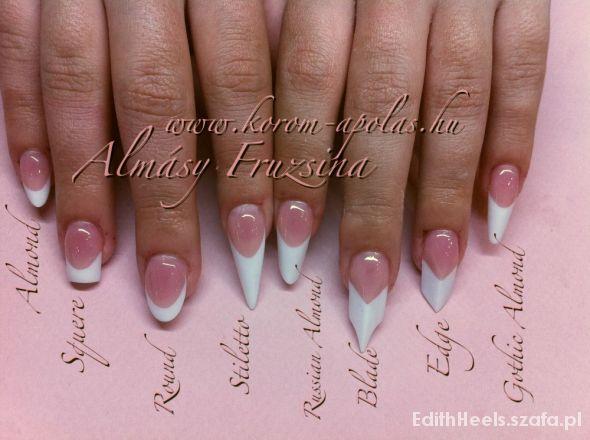 Fryzury Kształty paznokci