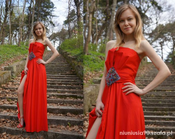 Wieczorowe Red Maxi Dress