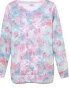House pastelowa bluza w kwiaty 3D