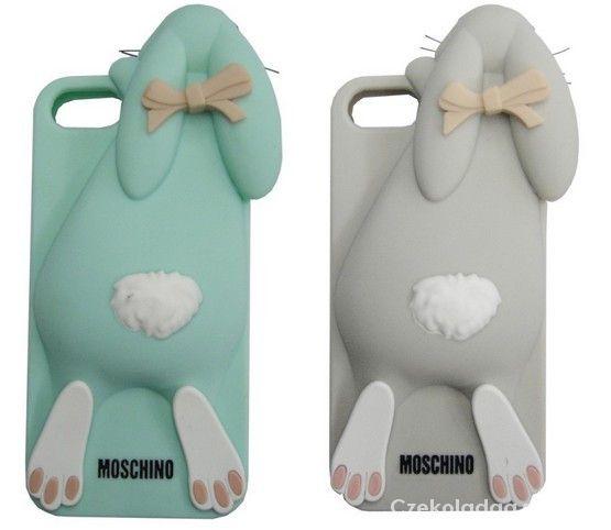 Pozostałe Etui case Iphone 4 4s 5 5s Moschino Bunny silicon