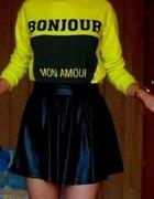 Limonkowa bluza pull&bear