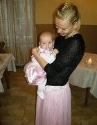 Na chrzest mamusia i córusia