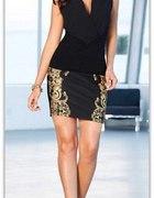 36 S Piękna spódniczka ze wzorem mini spódnica