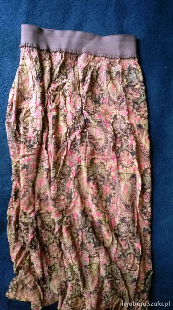 Spódnice Spódnica maxi S wzorzysta lekka zwiewna na gumce