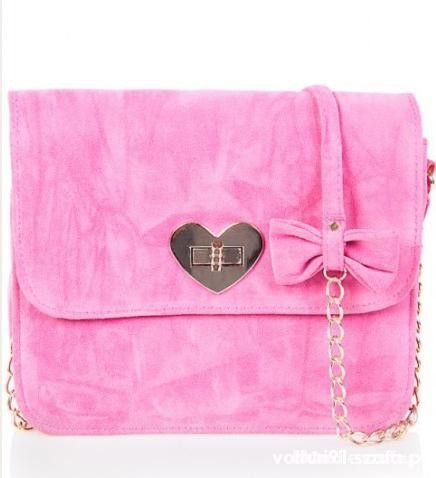 4f42aab722c21 mohito różowa serce kokardka mała torebka w Torebki na co dzień ...