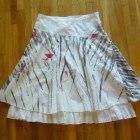 CROPP XS S biała rozkloszowana spódniczka