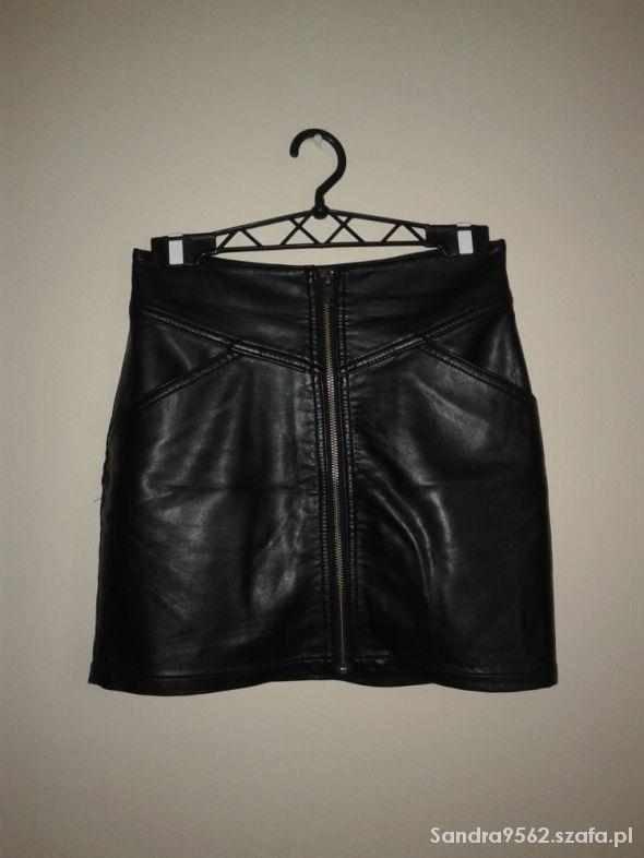 Spódnice Spódniczka H&M eko skórz zip 34 XS