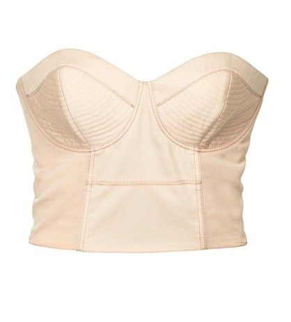 Top gorset pudrowy H&M River Island poszukiwany...