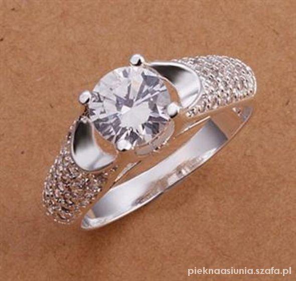 925 próba piękny pierścionek roz 18