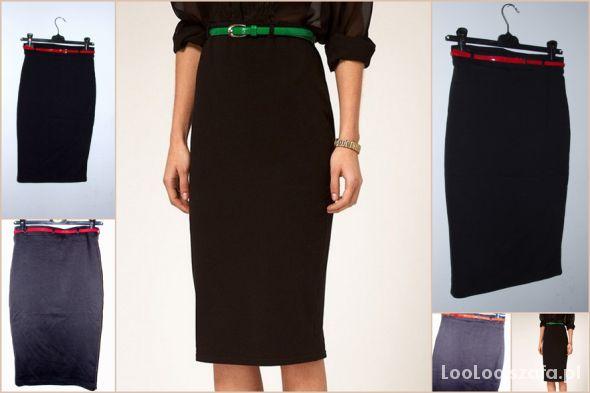 Spódnice Nowa ołówkowa spódnica H&M z paskiem