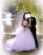 Suknia ślubna Sincerity 3656 z trenem...