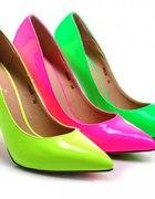 Neonowe szpilki w trzech kolorach