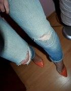 Jeans Klasyczne dziury przetarcia H&M