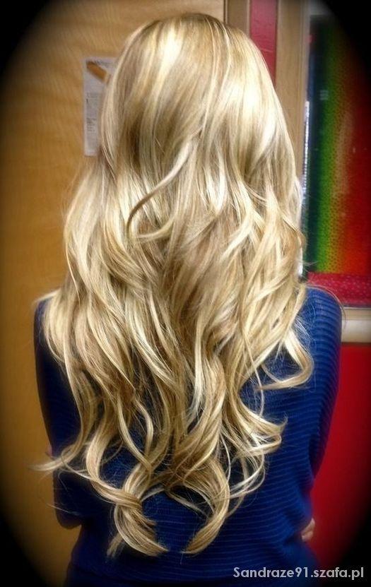 Długie Blond Fale W Fryzury Szafapl