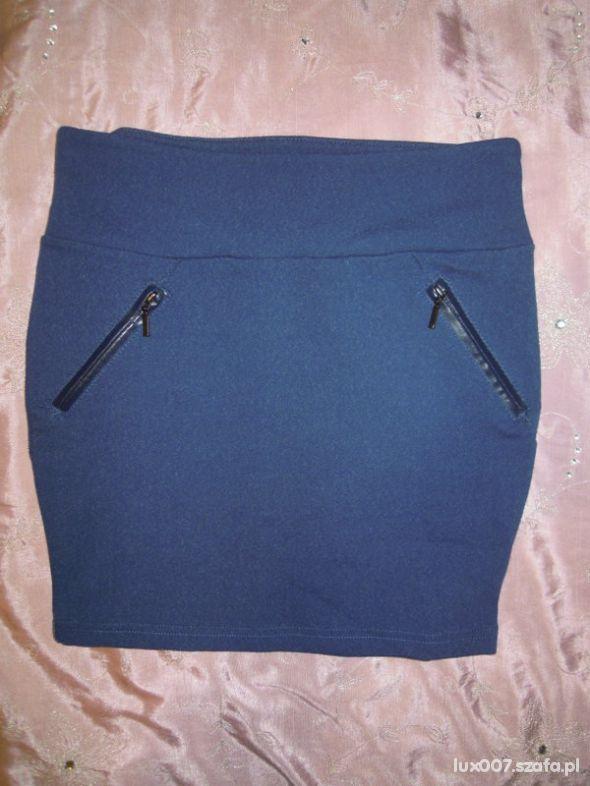 Spódnice Stradivarius spódniczka bandage jeansowa ze skóra