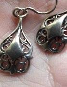 Kolczyki w stylu secesji srebro 925