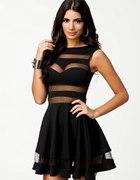 sukienka siateczka czarna