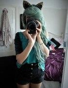dziewczyna z lustrzanką modnie