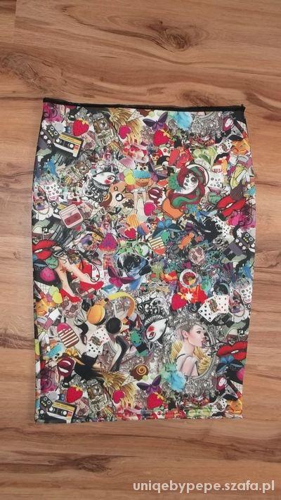 Spódnice midi kreskówka print komiks 40