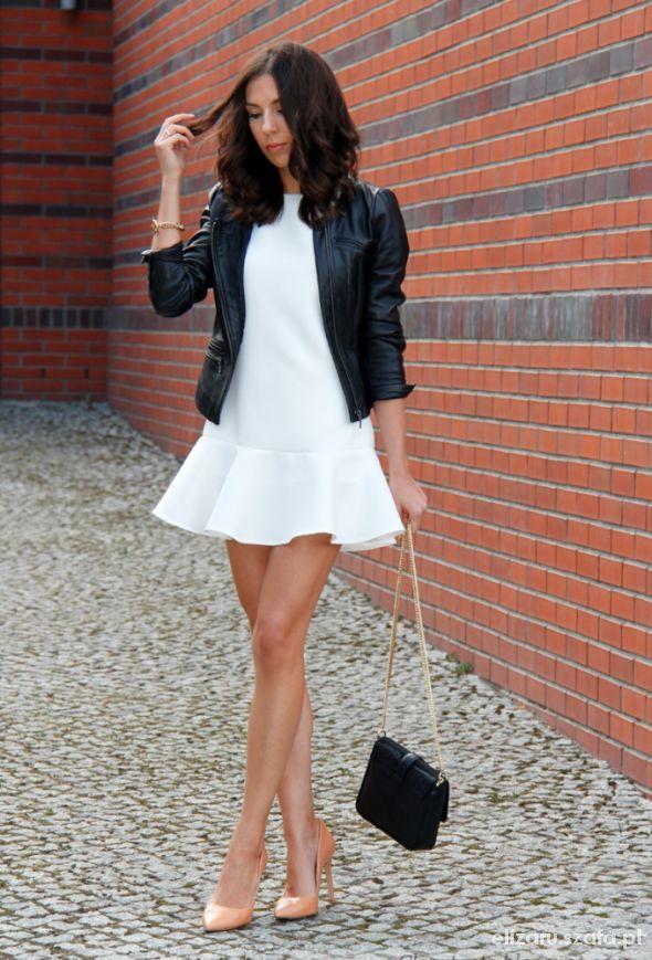 Eleganckie Mała biała