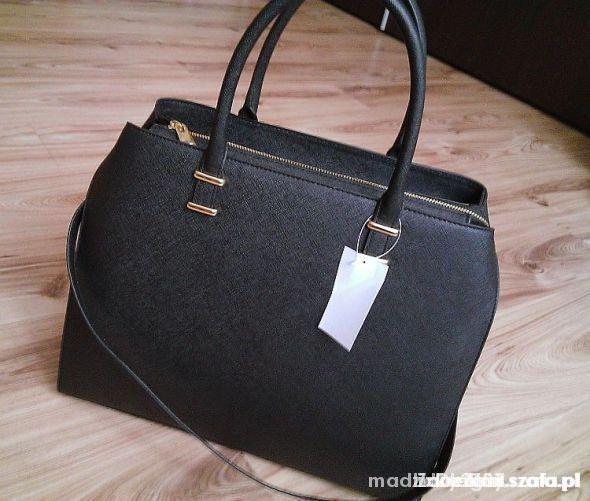 czarna torba shopper h&m 2014