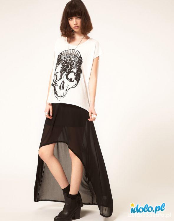 Spódnice Czarna spódnica Asos asymetryczna