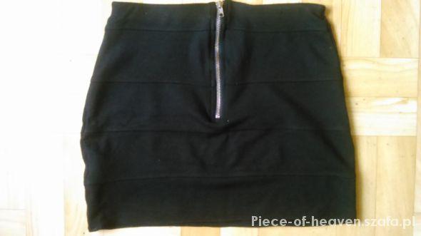 Spódnice czarna mini bandage bandażowa zip suwak