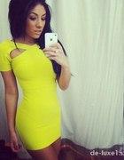 LimonkowaŻółta sukienka