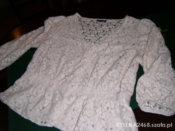 bluzka koszula koronka baskinka rozm 40 42