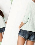 sweterek tunika pastele mięta pudrowy beż S M