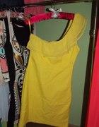 Bandażowa żółta neonowa FISHBONE