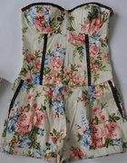 Kombinezon gorsetowy floral kwiaty River Island 42
