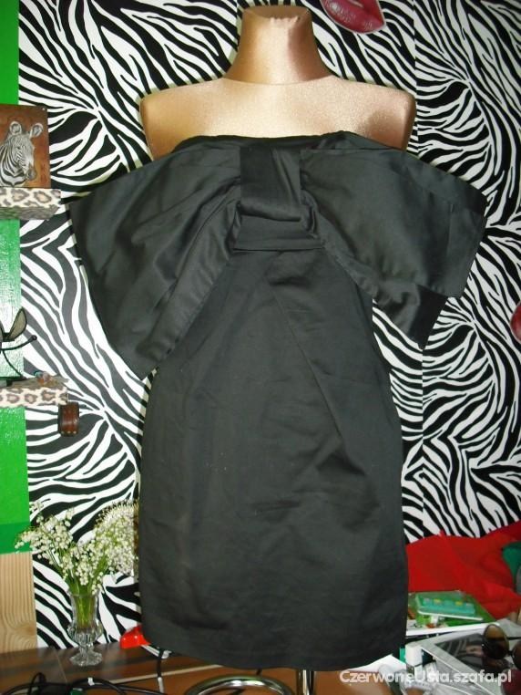 mega kokarda mala czarna new look zip