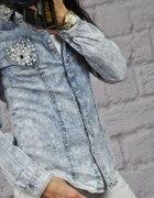 jeans i perełki