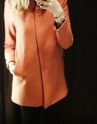 Zara płaszcz pomarańczowy