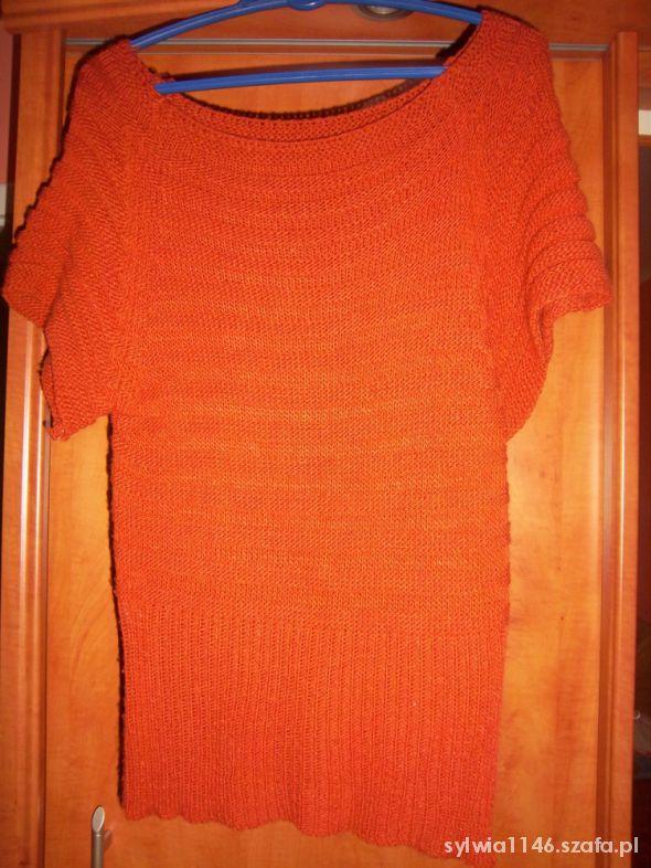 Ażurowy sweterek nietoperz S
