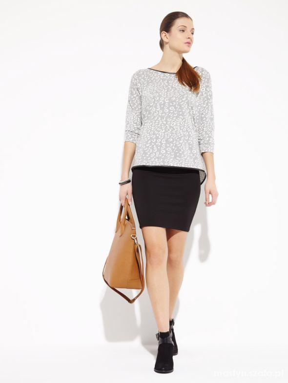 Spódnice Reserved Czarna ołówkowa spódnica