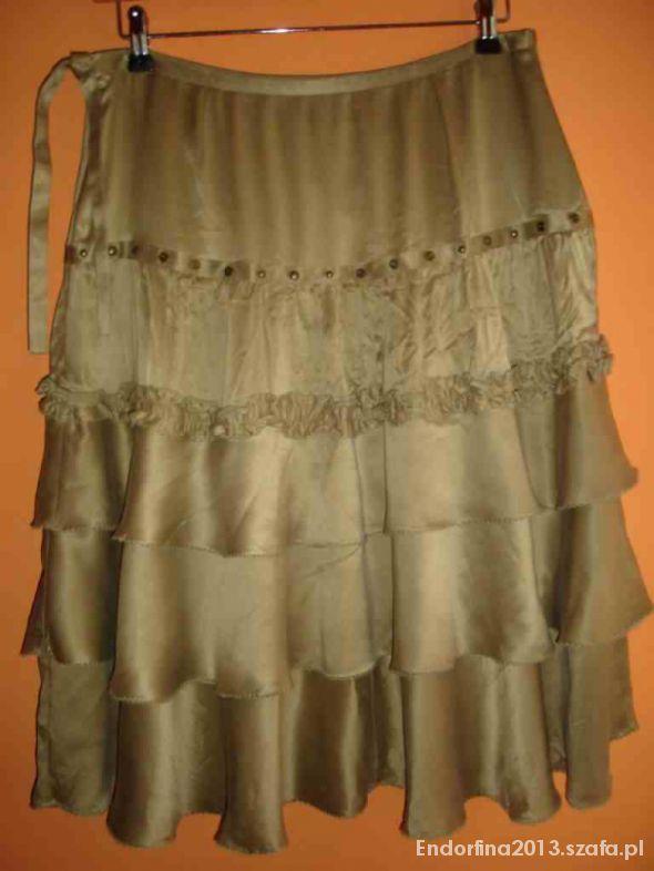 Spódnice Karen Millen Jedwabna Logowana Spódnica rozmiar 40