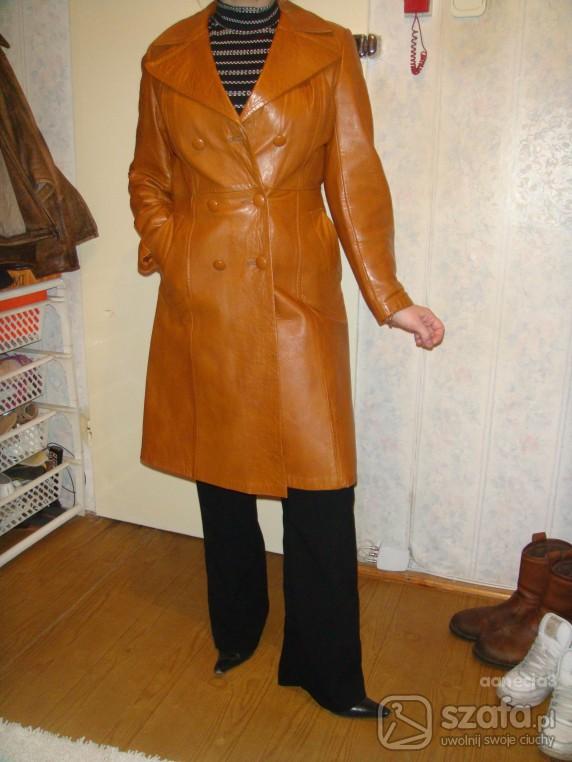 555ad4afa6168 Płaszcz skóra naturalna w Odzież wierzchnia - Szafa.pl