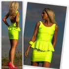 neonowa sukienka baskinka 3 kolory