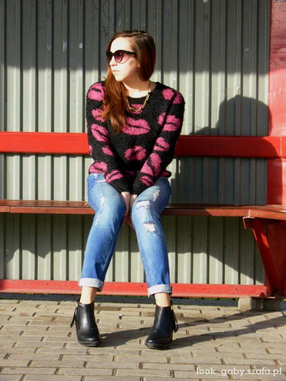 Mój styl Sweater in mouth